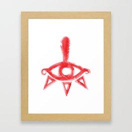 Yiga Clan Symbol Framed Art Print