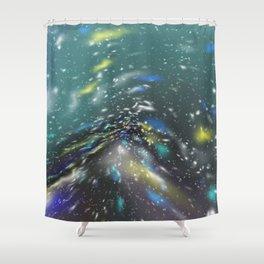 Deep Sea Space Shower Curtain