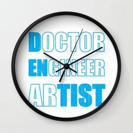 Dentist Doctor ENgineer arTIST Dental Fun Wall Clock