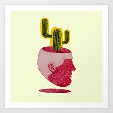 cactus man Art Print