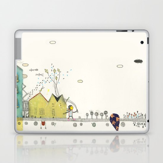 Walking Downtown Laptop & iPad Skin