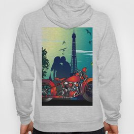 Romantic Kiss in Paris Hoody