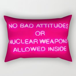 No Bad Attitudes Rectangular Pillow