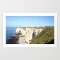 Cliffs of Normandy Art Print