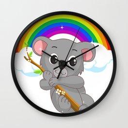 Cute Little Koala Bear LGBT Community Pride T Shirt Wall Clock