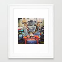 buddah Framed Art Prints featuring Buddah by tikkunolam