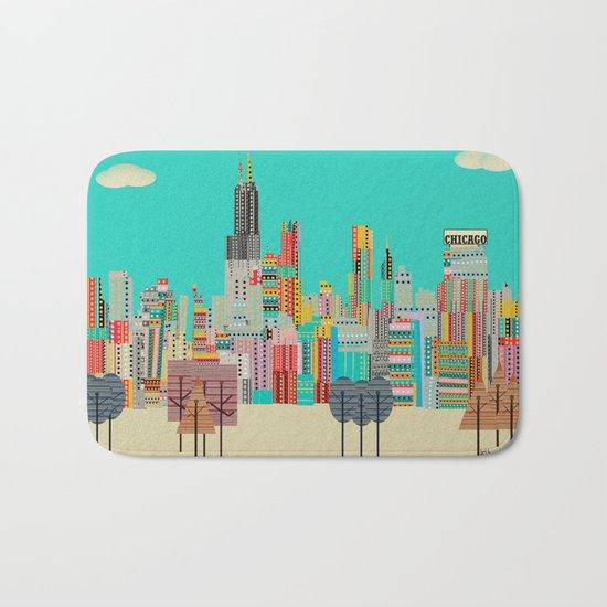 Chicago city (summer days) Bath Mat