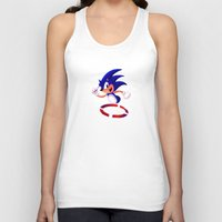 sonic Tank Tops featuring Sonic by DROIDMONKEY