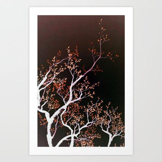 inverse tree Art Print