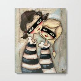 Partners in Crime - Halloween Sisters, Bandits, Friends Metal Print