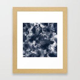 Abstract Navy Watercolor Framed Art Print