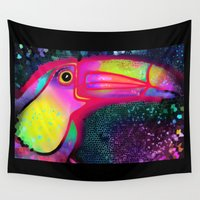 toucan Wall Tapestries featuring Toucan Sam  by Don't Blink Art
