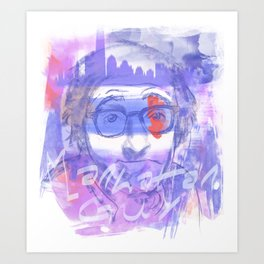 Manhattan guy Art Print