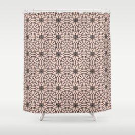 Pale Dogwood Lace Shower Curtain