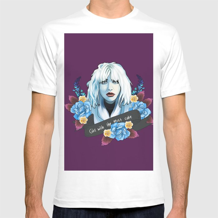 d6de90d6 Courtney Love is the girl with the cake T-shirt by hunnysnug | Society6