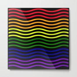 Roygbiv curvilinear stripe Metal Print