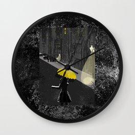 Rainy Night Wall Clock