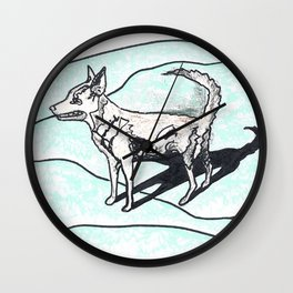 Nora dog Wall Clock