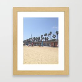 Barcelona Olympic Beach Framed Art Print