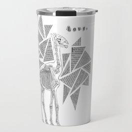 Skeletal Giraffe Travel Mug