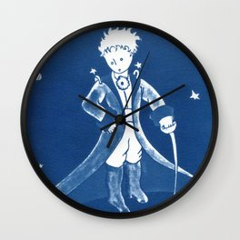 Little Prince Cyanotype Wall Clock