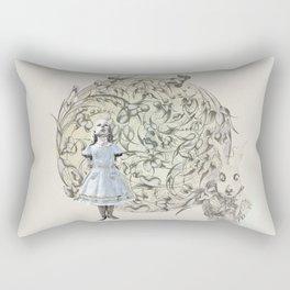 Alice,White Rabbit  and a Wonderland Rectangular Pillow