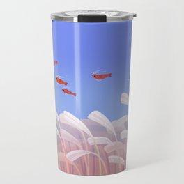Flying cherry shrimp Travel Mug
