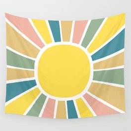 Retro Sunshine Wall Tapestry