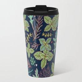 dark herbs pattern Travel Mug