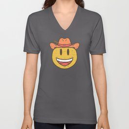 Cowboy Rancher cattleman  Smiley Gift Unisex V-Neck