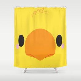 Yellow Chocobo Block Shower Curtain