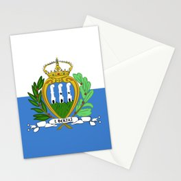 San Marino flag emblem Stationery Cards