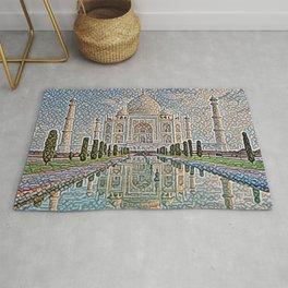 India Taj Mahal Artistic Illustration Carpet Style Rug
