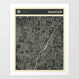 MUNICH MAP Art Print