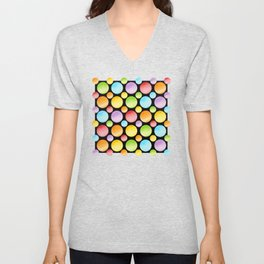 Candy Rainbow Polka Dots Unisex V-Neck