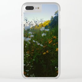 Wild Flower Clear iPhone Case