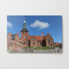 Vor Frue Kirke, Svendborg, Denmark Metal Print