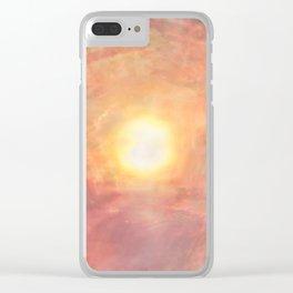 The Sun Rises Clear iPhone Case