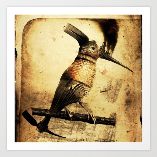 Coalminer Bird Art Print