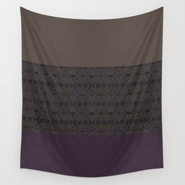 Brown purple patchwork Wall Tapestry