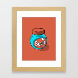 Bovril dreams in tangerine Framed Art Print