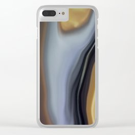 Earthy abstract 1 Clear iPhone Case