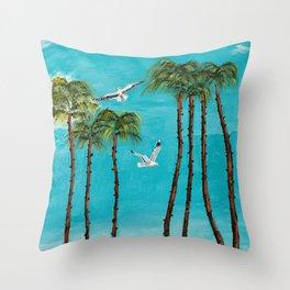 San Diego Palms Throw Pillow