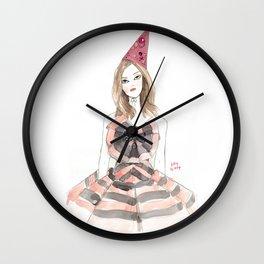 Christian Lacroix for Schiaparelli Fashion Illustration Wall Clock