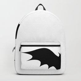 Halloween bat silhouette bats party Backpack