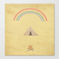 camping Canvas Prints featuring Camping by Tammy Kushnir