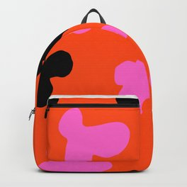 Grell 003 / A Dazzling 70's Pattern Of Black & Pink Spots Backpack