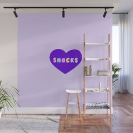 Love Snacks in Lilac Wall Mural