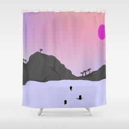 Sunset Fury Shower Curtain