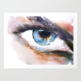 Blue eye Art Print